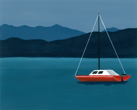 07-Flathead Lake Sailboat